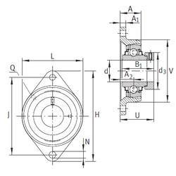 Чертеж-схема подшипника RCJT75 INA
