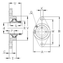 Чертеж-схема подшипника RCJT70 NKE