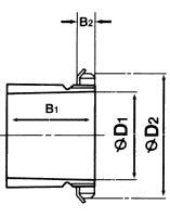 Чертеж-схема подшипника NU2208 EAP