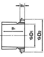 Чертеж-схема подшипника NU2208 ECP