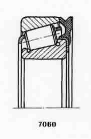 Чертеж-схема подшипника NJ308 ECJ