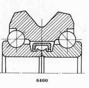 Чертеж-схема подшипника NJ313 ECJ