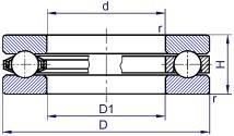 Чертеж-схема подшипника NUP320 ECJ