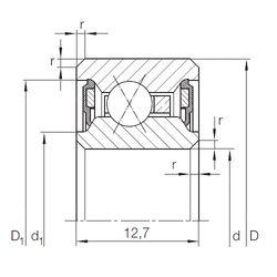 Чертеж-схема подшипника CSXU 045.2RS INA