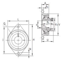 Чертеж-схема подшипника RCJT35-FA164 INA