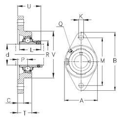 Чертеж-схема подшипника RCJT17 NKE