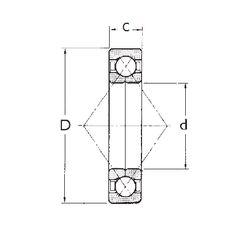 Чертеж-схема подшипника QJ314