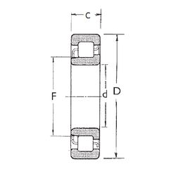 Чертеж-схема подшипника NJ2207