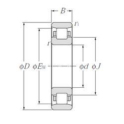 Чертеж-схема подшипника N211
