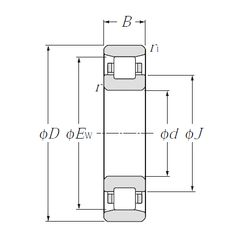 Чертеж-схема подшипника N310