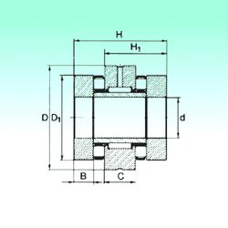 Чертеж-схема подшипника ZARN 50110 TN NBS