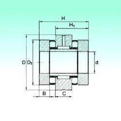 Чертеж-схема подшипника ZARN 90180 TN NBS