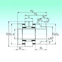 Чертеж-схема подшипника ZARN 75155 L TN NBS
