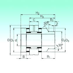 Чертеж-схема подшипника ZARN 70130 L TN NBS