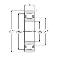 Чертеж-схема подшипника N203