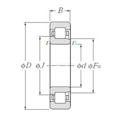Чертеж-схема подшипника NJ310