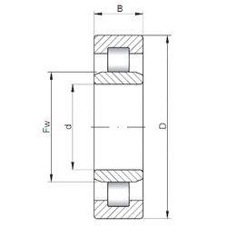 Чертеж-схема подшипника NU2215