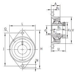 Чертеж-схема подшипника RCJT40-FA164 INA