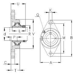 Чертеж-схема подшипника RCJT30-N NKE