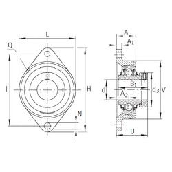Чертеж-схема подшипника RCJT3/4 INA