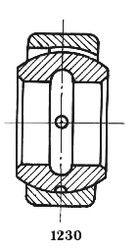 Чертеж-схема подшипника 1-ШС17