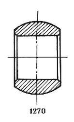 Чертеж-схема подшипника 1-Ш40 ЮТВК1