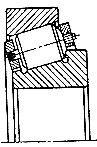 Чертеж-схема подшипника 10078/850 М