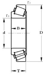 Чертеж-схема подшипника 10079/560 М