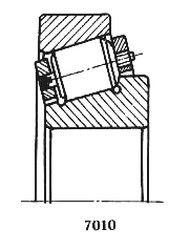 Чертеж-схема подшипника 10079/710 M1