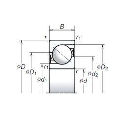 Чертеж-схема подшипника 100TAC03CMC NSK