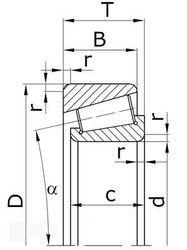 Чертеж-схема подшипника 1027306А