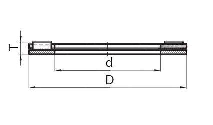 Чертеж-схема подшипника 109738K