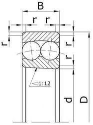 Чертеж-схема подшипника 111320