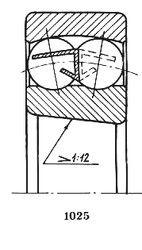 Чертеж-схема подшипника 111320 W3