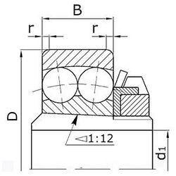 Чертеж-схема подшипника 11220