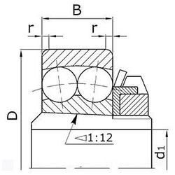 Чертеж-схема подшипника 11316