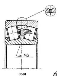 Чертеж-схема подшипника 113517 Н