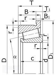Чертеж-схема подшипника 1201-TVH FAG