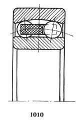 Чертеж-схема подшипника 1209 Е