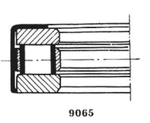 Чертеж-схема подшипника 129710