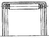 Чертеж-схема подшипника 134901 Е