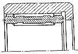 Чертеж-схема подшипника 154901