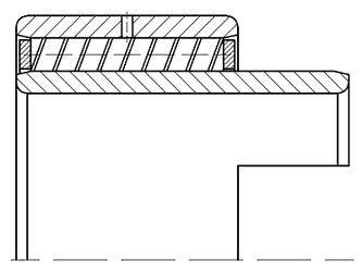 Чертеж-схема подшипника 15826 К