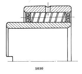 Чертеж-схема подшипника 15930