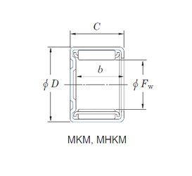 Чертеж-схема подшипника 15MKM2116 KOYO