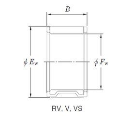 Чертеж-схема подшипника 16VS2212-2 KOYO