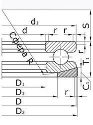 Чертеж-схема подшипника 18224