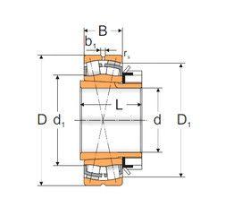 Чертеж-схема подшипника 22220 KW33+H320 MPZ