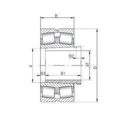 Чертеж-схема подшипника 22222 KCW33+AH3122 CX