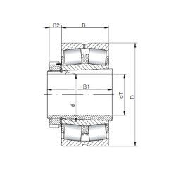 Чертеж-схема подшипника 22222 KCW33+H322 ISO